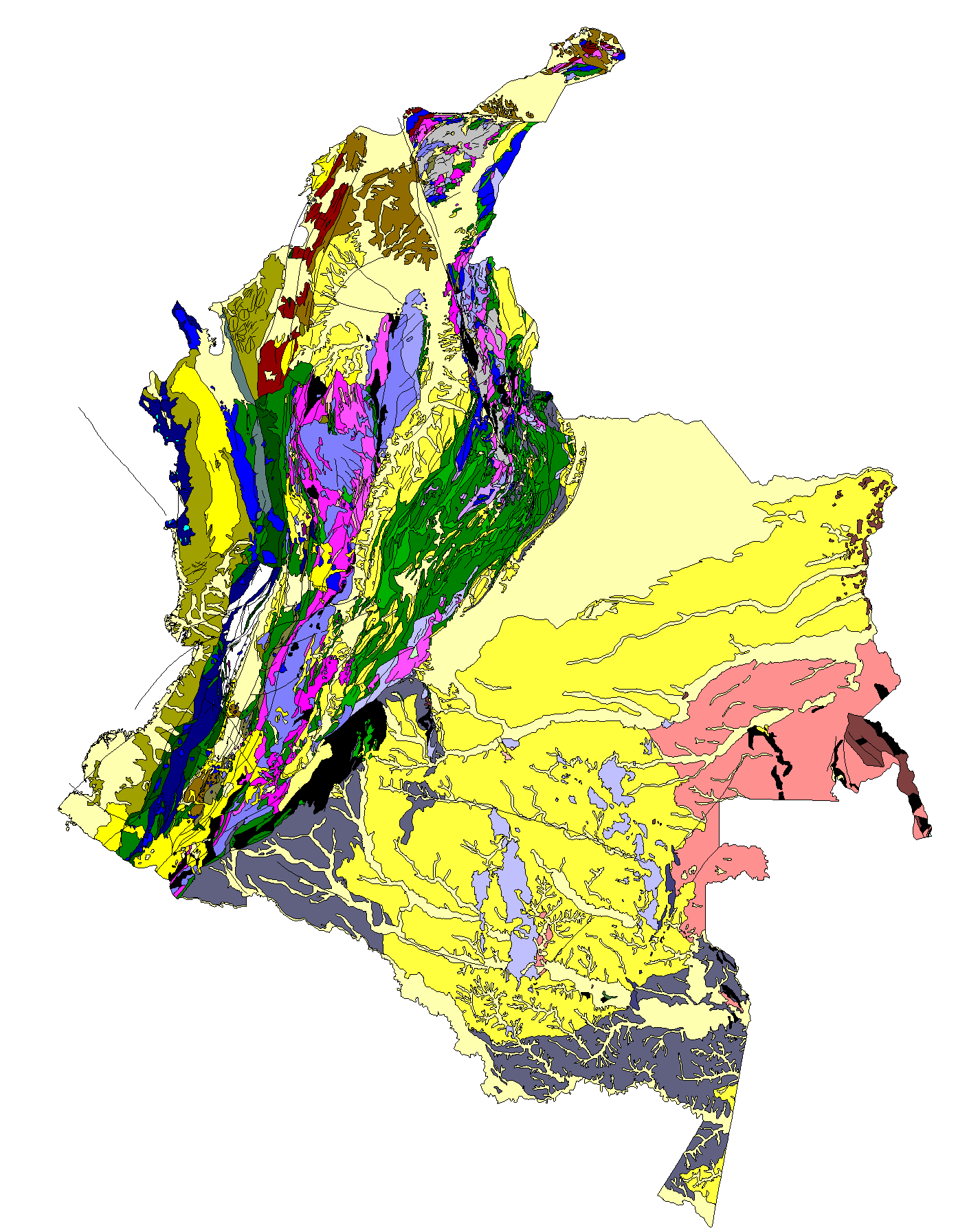 Colombia - Mapa Geologico.png